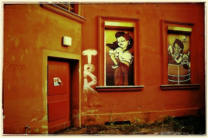 Hinterhof Streetart Berlin Pankow